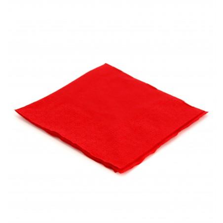 Guardanapos Papel Cocktail Vermelho 20x20cm (100 Uds)