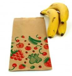Saco Papel Kraft para Fruta 14+7x28 cm (100 Unidades)