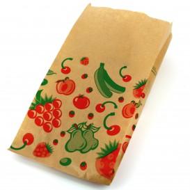 Saco Papel Kraft para Fruta 14+7x24 cm (100 Unidades)