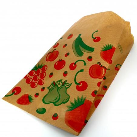 Saco Papel Kraft para Fruta 18+10x32 cm (1000 Unidades)