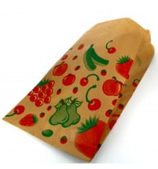 Saco Papel Kraft para Fruta 18+10x28 cm (1000 Unidades)