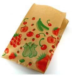 Saco Papel Kraft para Fruta 22+12x36 cm (100 Unidades)