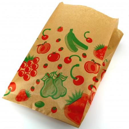 Saco Papel Kraft para Fruta 22+12x36 cm (1000 Unidades)