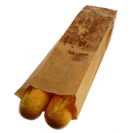 Saco de Papel para Pão Kraft 12+9x50 cm (1000 Unidades)