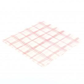 Guardanapos Quadrados Vermelhos 33x33 1 Folha (3840 Uds)