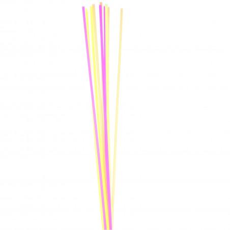 Palhina Direita Neon para Bebidas Ø8mm 70cm (25 Unidades)